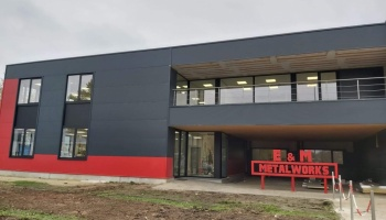 Bouw nieuwe kantoorruimte bij Lemmens Metaalwerken